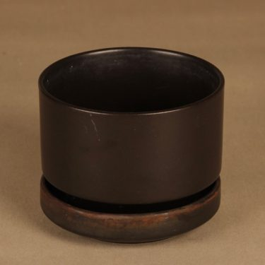Arabia SN flower pot, brown designer Richard Lindh