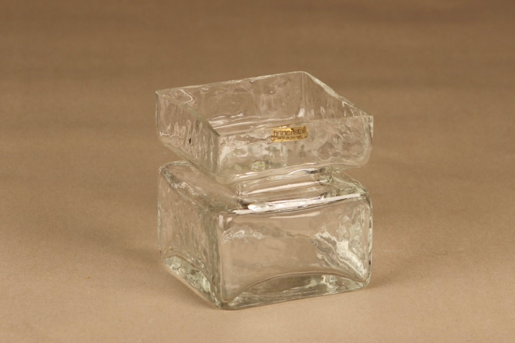 Riihimäen lasi Pala vase clear, size 4/6 designer Helena Tynell