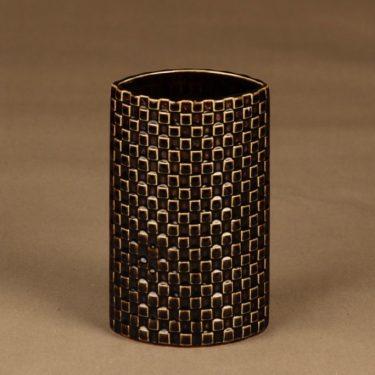 Arabia Harlekiini vase, brown designer Kaarina Aho
