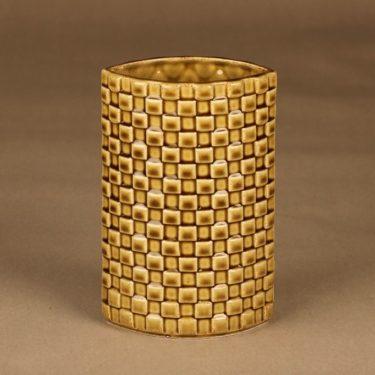 Arabia Harlekiini vase, light brown designer Kaarina Aho