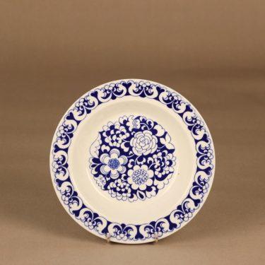 Arabia Gardenia lautanen, syvä, suunnittelija Esteri Tomula, syvä, serikuva, kukka