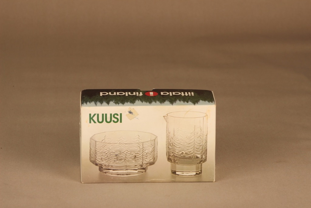 Iittala Kuusi sugar bowl and creamer designer Jorma Vennola