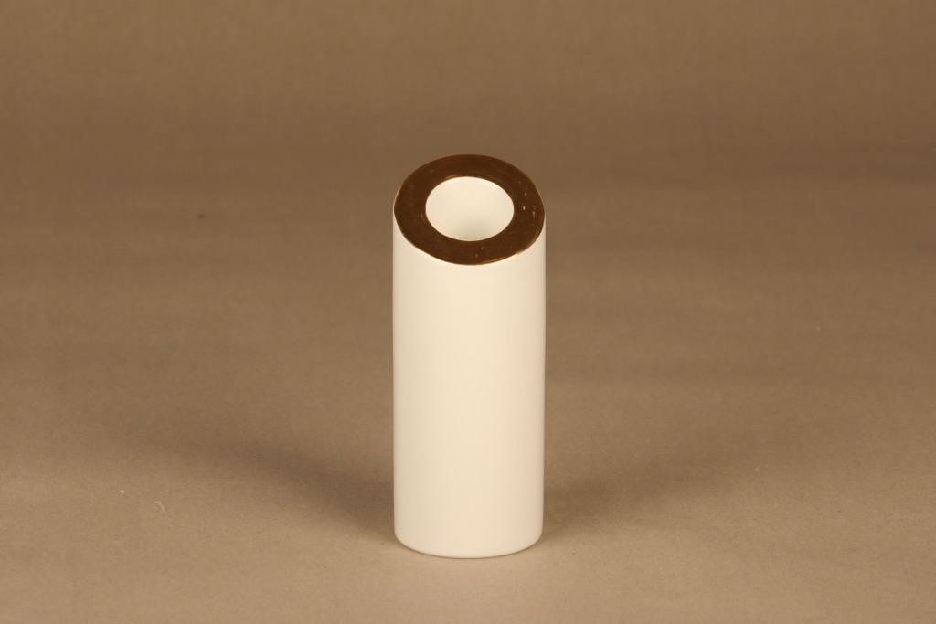 Arabia Elegia kynttilänjalka, kulta, suunnittelija Heikki Orvola, kulta