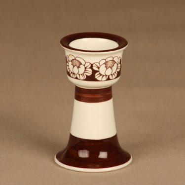 Arabia Katrilli munakuppi, ruskea, valkoinen, suunnittelija Esteri Tomula, serikuva