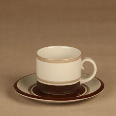 Arabia Pirtti tea cup, stripe decorative designer Raija Uosikkinen