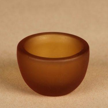 Riihimäen lasi Meripihka egg cup, signed designer Nanny Still