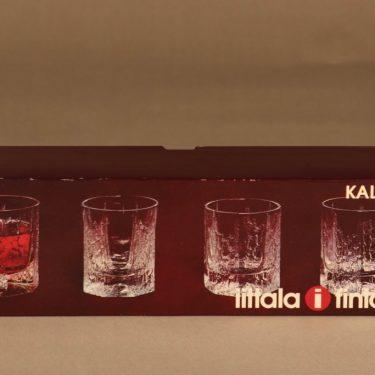 Iittala Kalinka lasi, 13 cl, 4 kpl, suunnittelija Timo Sarpaneva, 13 cl