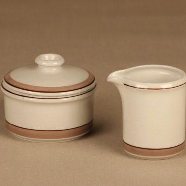 Arabia Kaisa sugar bowl and creamer designer unknown