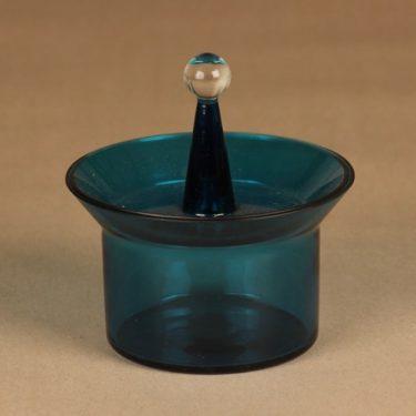 Riihimäen lasi Harlekiini makeisrasia, kannellinen, suunnittelija Nanny Still, kannellinen