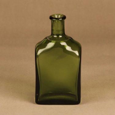 Riihimäen lasi taidelasipullo, vaaleanvihreä, suunnittelija tuntematon,