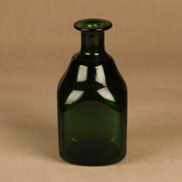 Riihimäen lasi taidelasipullo, vihreä, suunnittelija tuntematon,