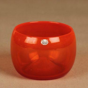 Nuutajärvi Rosso art glass bowl designer Kaj Franck