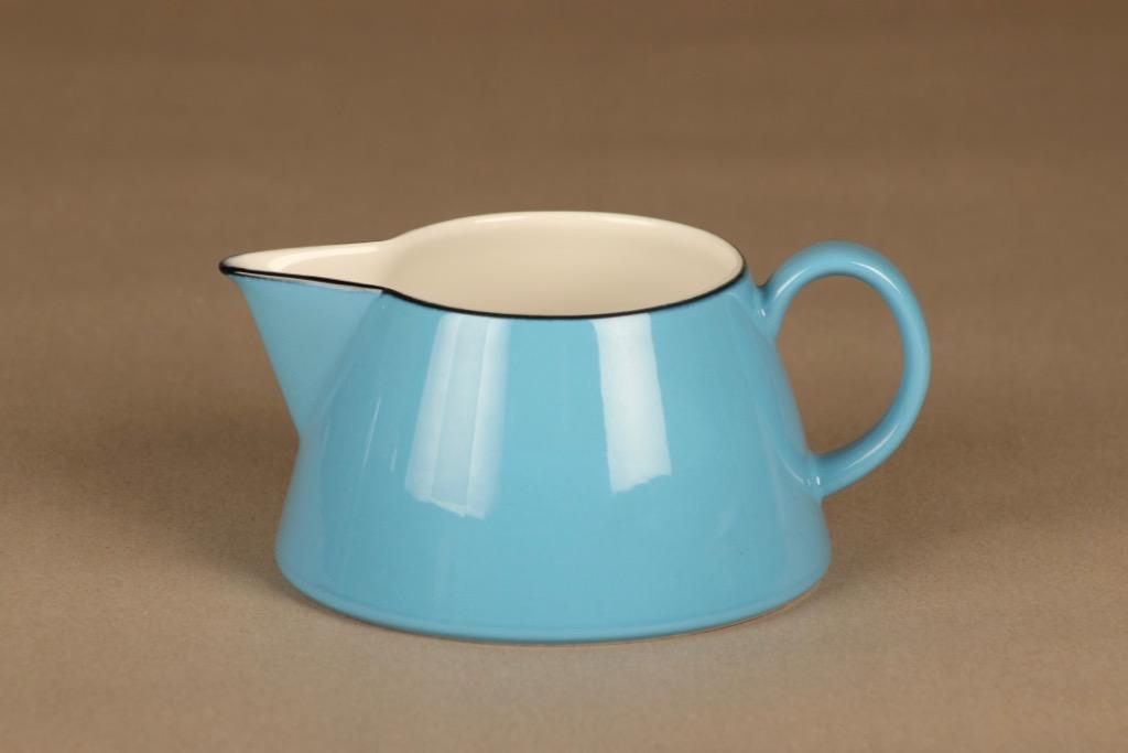 Arabia Harlekin Turkos sauce pitcher designer Inkeri Leivo
