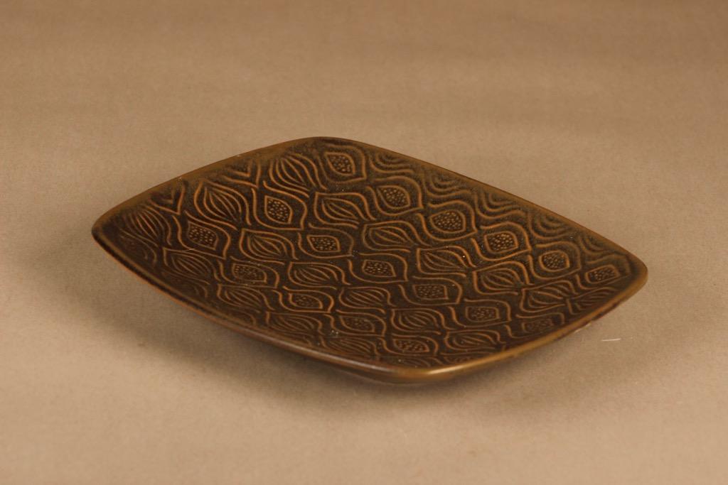 Arabia AL 2 serving plate, brown designer Anna-Liisa Vainio