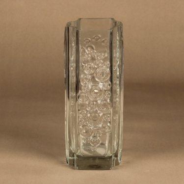 Riihimäen lasi Presto maljakko, kirkas, suunnittelija Tamara Aladin, massiivinen, retro