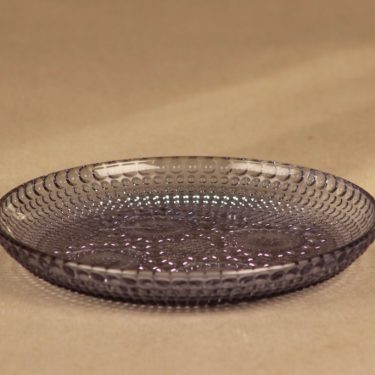 Riihimäen lasi Grapponia plate neodyme 14.5 cm designer Nanny Still