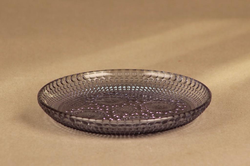 Riihimäen lasi Grapponia lautanen, 14.5 cm, suunnittelija Nanny Still, 14.5 cm