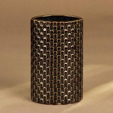 Arabia Harlekin vase, brown designer Kaarina Aho