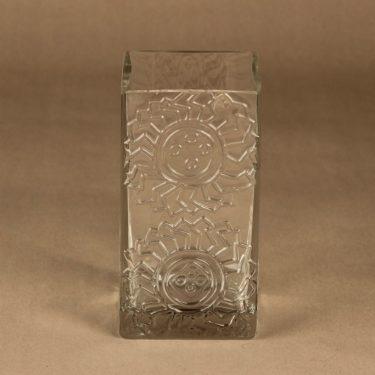 Riihimäen lasi Lucullus maljakko, kirkas, suunnittelija Nanny Still,