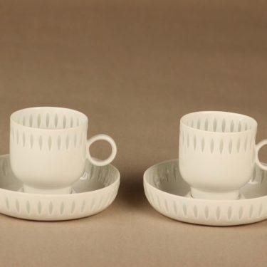 Arabia kahvikuppi, riisiposliini, 2 kpl, suunnittelija , riisiposliini