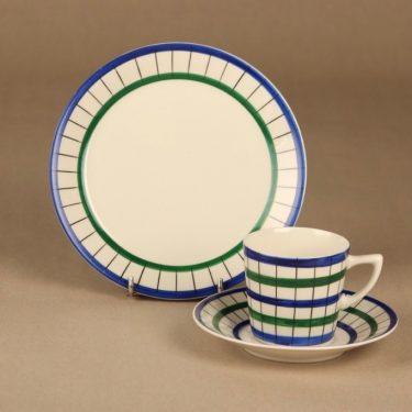 Arabia Verkko coffee cup and plates (2), designer Esteri Tomula