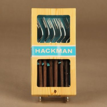 Hackman Lion de Luxe jälkiruokahaarukka, 6 kpl, suunnittelija Bertel Gadberg,