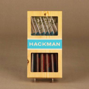 Hackman Lion de Luxe kalaveitsi, 6 kpl, suunnittelija Bertel Gadberg,