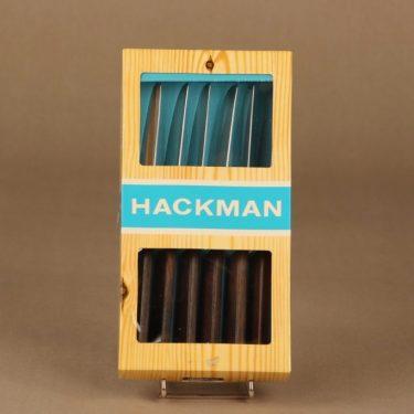 Hackman Lion de Luxe veitsi, 6 kpl, suunnittelija Bertel Gadberg,