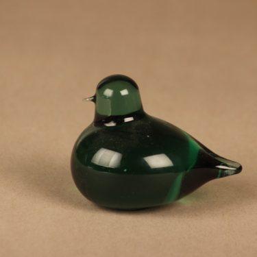 Nuutajärvi bird Snow Bunting, green designer Oiva Toikka