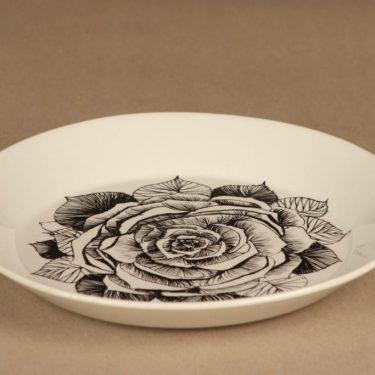 Arabia Black Rose plate 19.5 cm designer Esteri Tomula