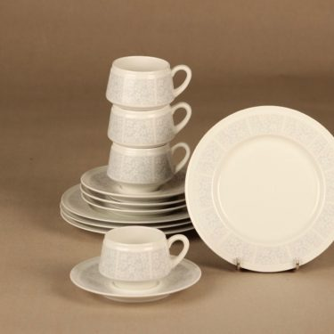 Arabia Pitsi coffee cup and plates(2) 4 pcs designer Raija Uosikkinen
